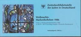 BRD  ZWJ-MH 5a, Mit 5x 1303, Postfrisch **, Privates Markenhefchen Der Zentralwohlfahrtstelle Der Juden 1986 Weihnachten - [7] Repubblica Federale