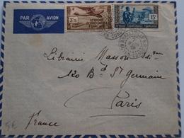 Lettre Brazzaville  Moyen Congo 7 Mars 1939 - France (former Colonies & Protectorates)