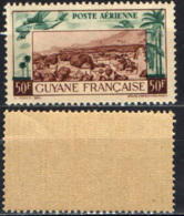 GUAYANA FRANCESE - 1941 - AEREO - VILLAGGIO - PALME - MNH - Neufs