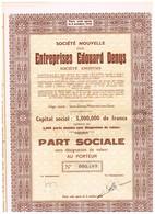 Titre Ancien - Société Nouvelle Des Entreprises Edouard Denys -Titre De 1949 - - Industrie