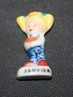 FEVE FOURNEE DOREE - LES MOIS DE L'ANNEE - JANVIER - BRILLANTE - Fèves