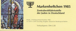 BERLIN ZWJ-MH 3b Mit 5x 749, Postfrisch **, Privates Markenhefchen Der Zentralwohlfahrtstelle Der Juden 1985 Weihnachten - [5] Berlino