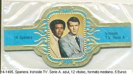 Vitolas Spanera. Ironside TV. Serie A. Azul. 12 Vit. FM. Ref. 14-1495 - Vitolas (Anillas De Puros)