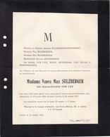 JUDAICA AMSTERDAM IXELLES Jeanne-Cornélie VAN LEE Veuve Max SULZBERGER 1839-1925 HENNEBERT NOVA VAN PRAAG - Todesanzeige