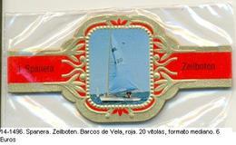 Vitolas Spanera. Zeilboten. Barcos De Vela. Roja. 20 Vit. FM. Ref. 14-1496 - Vitolas (Anillas De Puros)