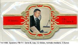 Vitolas Spanera. FBI. TV. Serie B, Roja. 12 Vit. FM. Ref. 14-1498 - Vitolas (Anillas De Puros)