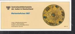 BERLIN ZWJ-MH 6b Mit 5x 790, Postfrisch **, Privates Markenhefchen Der Zentralwohlfahrtstelle Der Juden 1987 Wohlfahrt - [5] Berlino