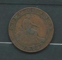 ESPAGNE DIEZ CENTIMOS 1870  Laupi11405 - Other