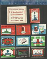 DE WARE VERZAMELAAR - LE VRAI COLLECTIONNEUR EXPOSITION INTERNATIONALE ANTWERPEN ANVERS 1964 Matchbox Labels Belgium - Matchbox Labels
