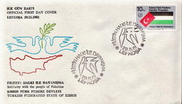 Turkish Cyprus Stamp On FDC - Briefe