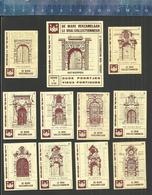 DE WARE VERZAMELAAR - LE VRAI COLLECTIONNEUR OUDE POORTJES VIEUX PORTIQUES ANTWERPEN ANVERS 1966 Matchbox Labels Belgium - Boites D'allumettes - Etiquettes