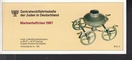BRD ZWJ-MH 6a Mit 5x 1336, Postfrisch **, Privates Markenhefchen Der Zentralwohlfahrtstelle Der Juden 1987 Wohlfahrt - [7] Repubblica Federale