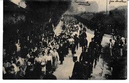 DOUBS BESANCON Grève Des Soieries (soieriers) Carte Photo (texte Interessant Au Verso) - Besancon