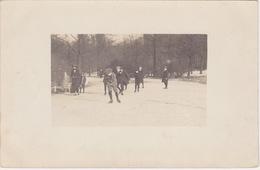 Fotokaart,Amsterdam Oost, Schaatsen, Oosterpark 1914 - Amsterdam