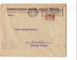 12392 ZIVNOSTENSKA BANKA FILIALE TRIESTE X ESTE - TARGHETTA CONGRESSO FILATELICO - Marcophilie