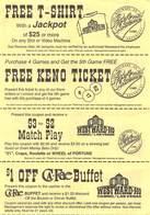 Coupon Sheet From Westward Ho Casino, Las Vegas, NV - Advertising