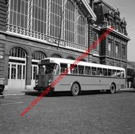 Gare Huy-Nord En September 1963 - Photo 15x15cm - Bus Namur-Huy Van Hool - Treinen