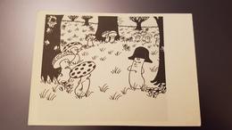 "Jean Effel. ""Napoleon"" - Champignon -  - Old Postcard - 1962 Mushroom - Champignons"