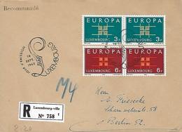 Luxembourg  -  FDC   16.9.1963   EUROPA  Lettre Recommandé - FDC
