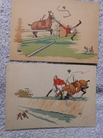 5  Cpa Pferd / Horse / Cheval Illustrateur Saut Obstacle - Chevaux