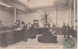 CPA Dijon - Société Générale - Bureaux Et Caisse - Au Verso, Service Compartiments De Coffres-forts - Dijon