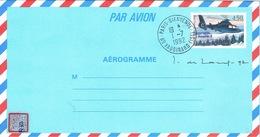 France Pret A Poster Entier Postal Stationery Aerogramme Helicoptere Dauphin 2 Premier Jour Paris Bienvenue 1/7/1992 TB - Airmail Stationery