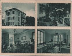 Alassio (Savona): Pensione Amelia. Cartolina Doppia Formato Piccolo Viaggiata 1943 - Hotels & Restaurants
