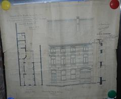 Aalst 1913 Plan Bouw Huis Brusselse Steenweg  Getekend Goethals En Reyntens De Wolf - Historische Dokumente