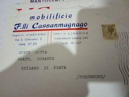 VIGEVANO E LISSONE PAVIA   BUSTA DITTA MOBILI FLLI CASSANMAGNAGO . VB1970 HH2414 - Pavia