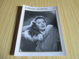 Fiche Cinéma - Barbara Stanwyck. - Cinemania