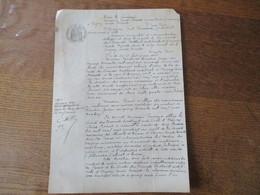 24 JANVIER 1913 ENTRE MONSIEUR PAUL PONCET A ORIGNY SAINTE BENOITE ET MONSIEUR PAUL FREMAUX SOCIETE DES CIMENTS PORTLAND - Manuscritos