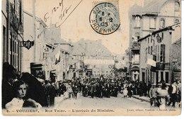 Ardennes VOUZIERS Rue Taine L'arrivée Du Ministre 1905 - Vouziers