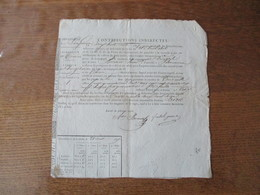 VIRAZEIL 28 AVRIL 1827 EMPLOYES DES CONTRIBUTIONS INDIRECTES ONT VERIFIE LES PLANTES DE TABAC DU PLANTEUR BARRIER DE MAR - Documenti Storici