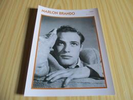 Fiche Cinéma - Marlon Brando. - Fanartikel