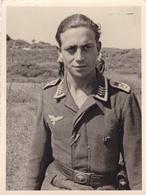 PHOTO ORIGINALE 39 / 45 WW2 WEHRMACHT FRANCE COTE ATLANTIQUE PORTRAIT D UN OFFICIER AVIATEUR ALLEMAND - War, Military