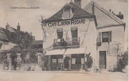CPA Fontaine-les-Dijon - Café Ligeron-Rocard (Place Et Rue De La Mare) - Autres Communes