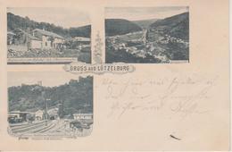 57 - LUTZELBOURG - GRUSS AUS 3 VUES - GARE ET RESTAURANT ZUM BAHNHOF - Otros Municipios