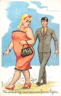 Illustration Illustrateur Carriere Louis Me Prendriez Vous Pour Une Femme Légère , Bas Nylon Femme Obese Forte Elegante - Carrière, Louis