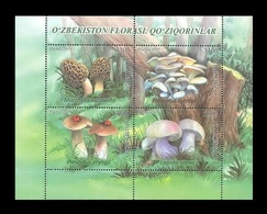 Uzbekistan 2019 Mih. 1398/401 (Bl.101) Flora. Edible Mushrooms MNH ** - Uzbekistan