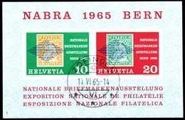 SCHWEIZ 1965 Block 20 Gestempelt X530F76 - Blocs & Feuillets
