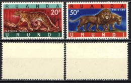 RUANDA URUNDI - 1961 - LEOPARDO E LEONE - MNH - Ruanda-Urundi