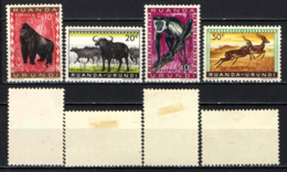 RUANDA URUNDI - 1959 - ANIMALI SELVATICI - MH - Ruanda-Urundi