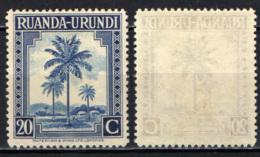 RUANDA URUNDI - 1942 - PALMA DA OLIO - SENZA GOMMA - Ruanda-Urundi