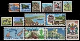 Tansania 1965 - Mi-Nr. 5-18 ** - MNH - Freimarken - Tansania (1964-...)
