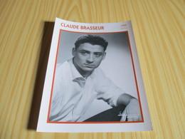 Fiche Cinéma - Claude Brasseur. - Fanartikel