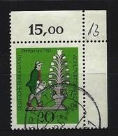 BUND Mi-Nr. 605 Rechtes Oberes Randstück Gestempelt - BRD