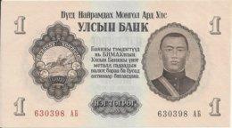 MONGOLIE 1 TUGRIK 1955 UNC P 28 - Mongolie