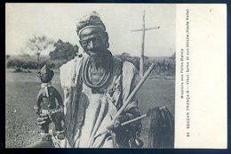 Cpa Afrique Soudan Français Missions Des Pères Blancs Vieux Samo Et Son Fétiche - Haute Volta  DEC19-02 - Sudan
