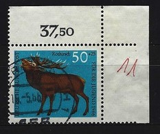 BUND Mi-Nr. 514 Rechtes Oberes Randstück Gestempelt - [7] République Fédérale