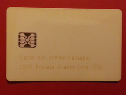 DEMO TEST CARD Schlumberger SC5 F256 E.A.U. 45Dhs MINT Emirats Arabes Carte Jaunie Non Commercialisable - Ver. Arab. Emirate